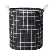 Luxsea Foldable Cylinder Round Single Fabric Plastic Frame Laundry Basket Hamper Storage Bin Organization Storage Supplies