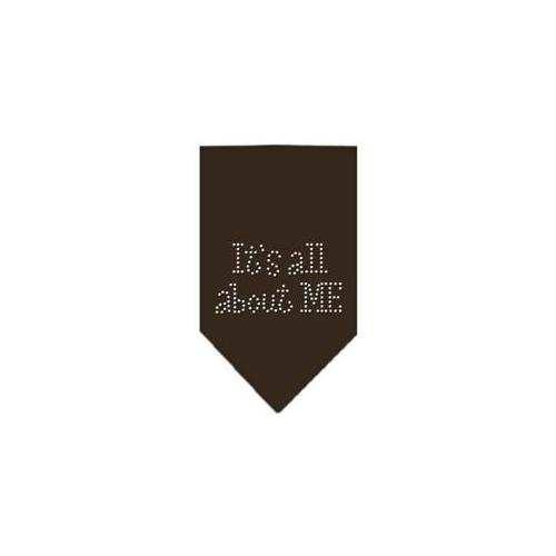 Image of Mirage 67-82 SMCO It's All About Me Rhinestone Pet Bandana Cocoa Small