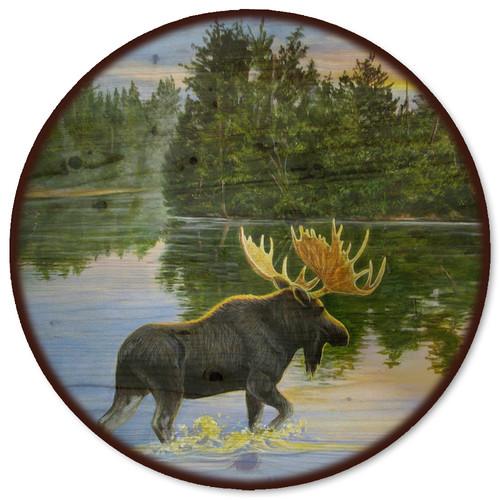 WGI-GALLERY Lake Moose Lazy Susan