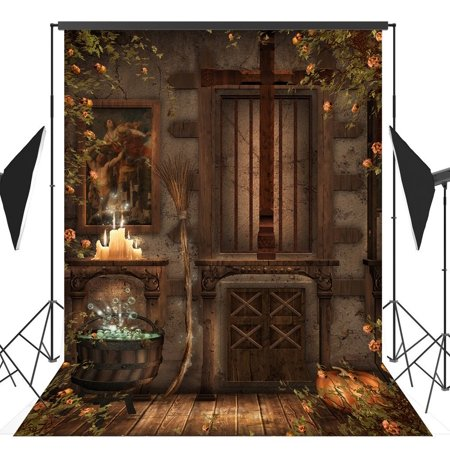GreenDecor Polyster 5x7ft Halloween Theme photography Backdrop Background studio prop](Cute Halloween Themed Backgrounds)