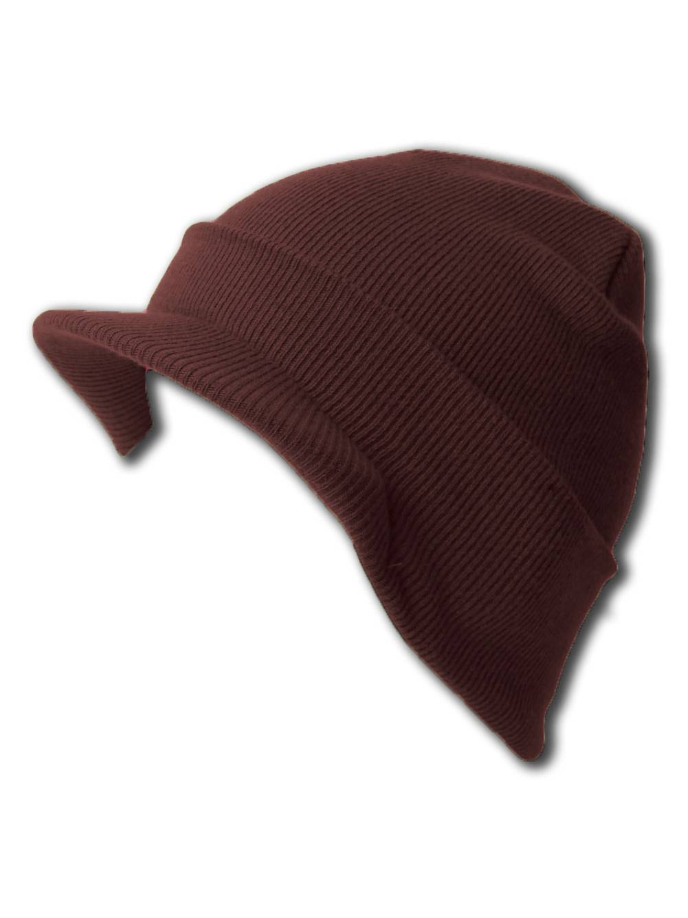 79da5360bfd NEW CUFF BROWN Beanie Visor Skull Cap HAT