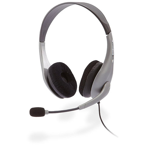 Cyber Acoustics Stereo Headset and Boom Microphone with PC Y-adapter