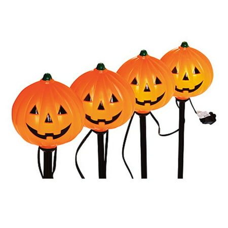 Halloween Pathway Lights, PumPKins, 4 Pc. Set, Noma, V37131-88 - Halloween Light Show Nj