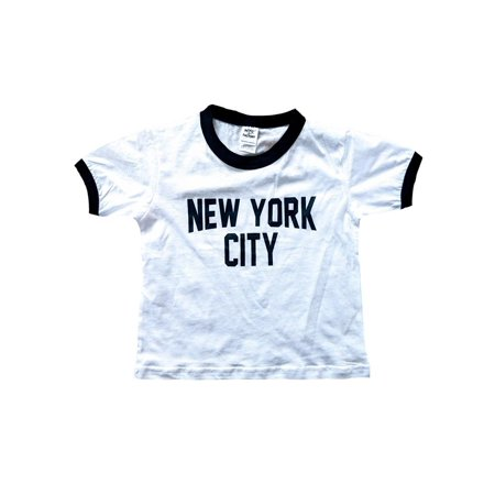 Nyc Factory - New York City Toddler John Lennon Ringer NYC Baby Tee Beatles  T-shirt White (2T) - Walmart.com 55dd7452e86