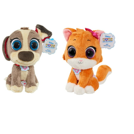 T.O.T.S. Bean Plush Mia the Kitten and Pablo the Puppy 2 Pack Bundle ()