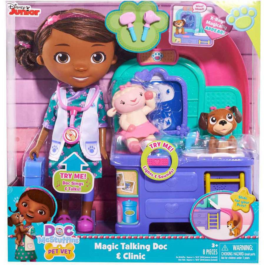 Doc McStuffins Pet Vet Talking Doll and Care Clinic
