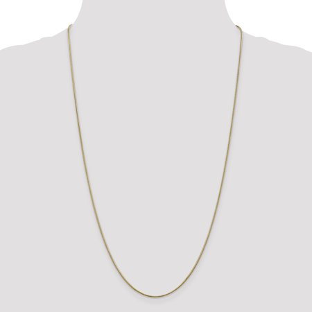 14K Yellow Gold 1.1mm Round Snake Chain 24 Inch - image 3 de 4