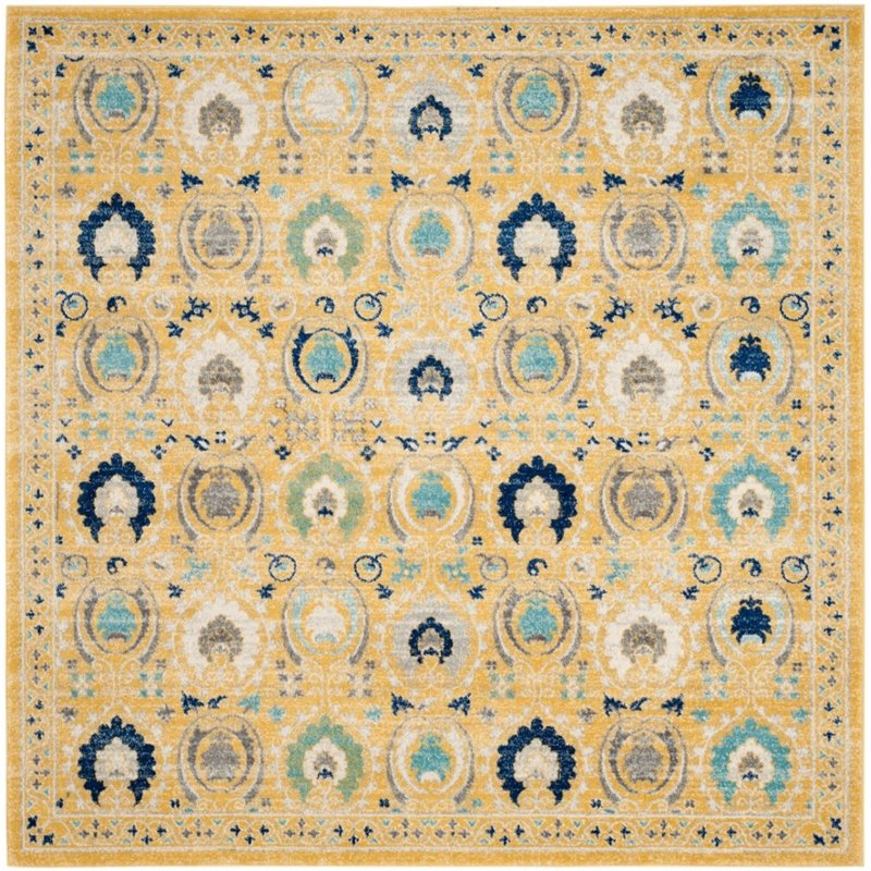 "Safavieh Evoke 6'7"" X 9' Power Loomed Rug in Gold and Ivory - image 1 de 7"