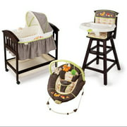 Summer Infant Fox & Friends Bouncer, Bassinet & High Chair Gear Set