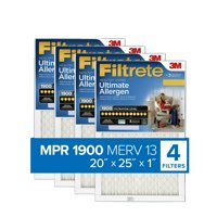 Filtrete 20x25x1, Healthy Living Ultimate Allergen Reduction HVAC Furnace Air Filter, 1900 MPR, Pack of 4 Filters
