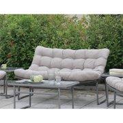 Furniture of America Georgio Modern Patio Loveseat in Gray