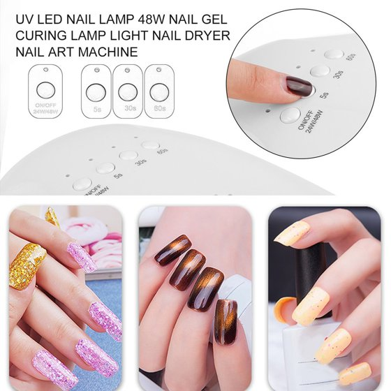 UV LED Nail Lamp 48W Nail Gel Curing Lamp Light Nail Dryer Nail Art ...
