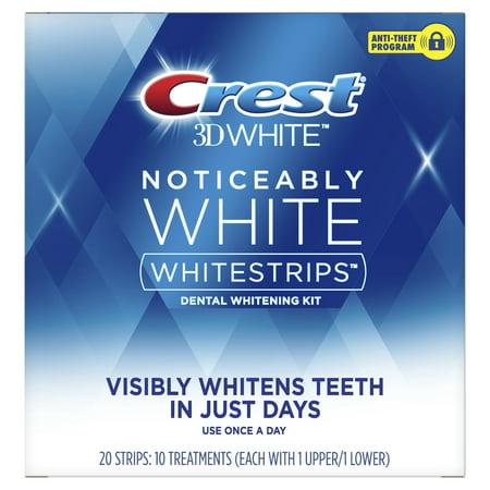 Crest Noticeably White Whitestrips Teeth Whitening Kit, 10