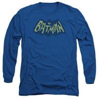 BATMAN/SHOW BAT LOGO - L/S ADULT 18/1 - ROYAL - 2X