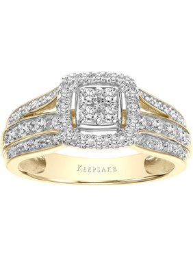 Faith 3/8 Carat T.W. Certified Diamond 10kt Yellow Gold Ring