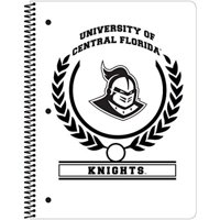 C.R. Gibson 1-Subject Spiral Notebook, Central Florida Knights, White (C950696WM)