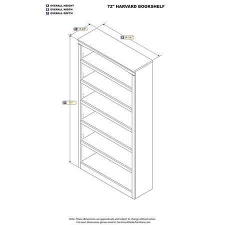 Scranton & Co 6 Shelf Bookcase in Walnut - image 1 of 3