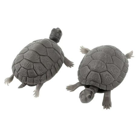 2pcs Plastic Tortoise Aquarium Decorative Ornament Fish Tank Decor ()