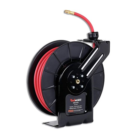 Air Max Ltd (REELWORKS Air Hose Reel Spring Drive PRO Level with Hybrid Polymer Hose Max 300PSI 1/4