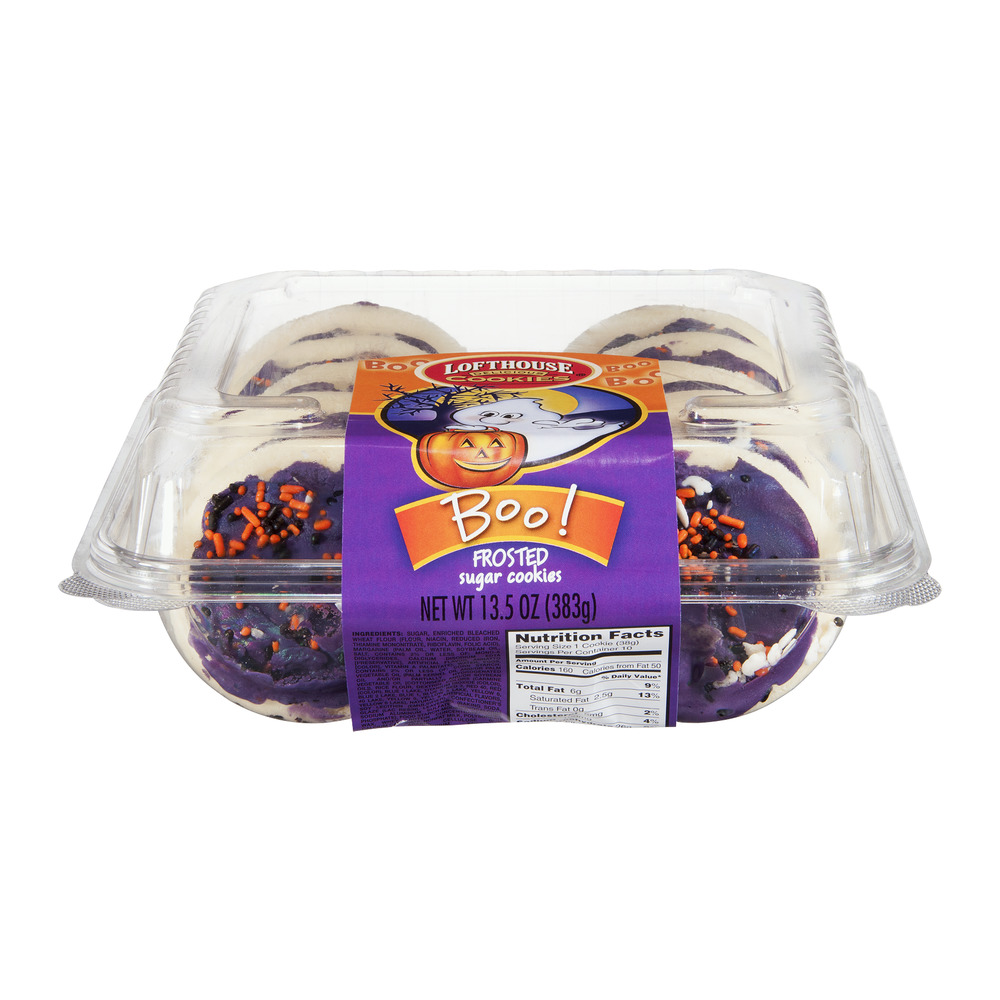 Lofthouse Boo! Frosted Sugar Cookies, 13.5 OZ