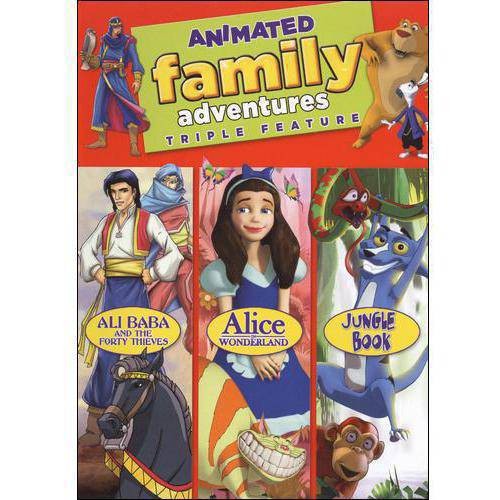 Animated Family Adventures: Jungle Book Rikki-Tikki-Tavi To The Rescue   Alice In Wonderland: What's The... by