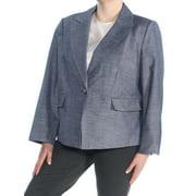 NINE WEST Womens Navy Suit Wear To Work Jacket Plus  Size: 18W