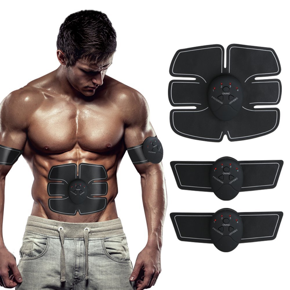 Fitness Muscle Training Gear, Abdominal Muscle Toner Trainer Body Fit Toning Belt, Electronic Muscle System Fit for Abdomen and Arm