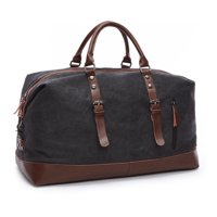 Product Image Bagail Canvas Leather Men Travel Bags Carry on Luggage Bags  Duffel Bags Tote Large Weekend Overnight 1b14b560a9