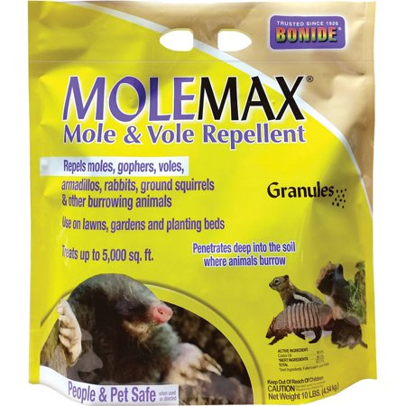 Bonide Mole Max and Vole Repellent Granules,