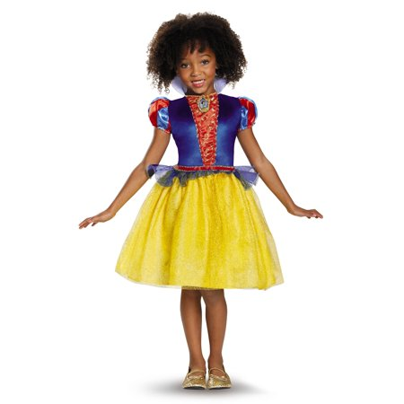 Snow White Classic Disney Princess Snow White Costume Medium/7-8 (Small/4-6X) (Superhero White Costume)