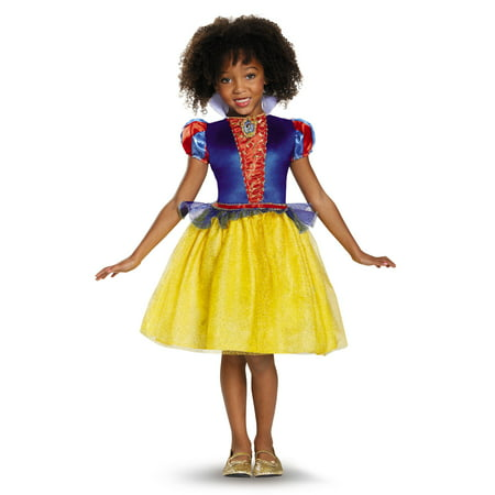 Snow White Classic Disney Princess Snow White Costume Medium/7-8 (Small/4-6X)](Superhero White Costume)