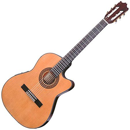 Ibanez GA Series GA5TCE Thinline Classical Acoustic-Electric Guitar Natural ()