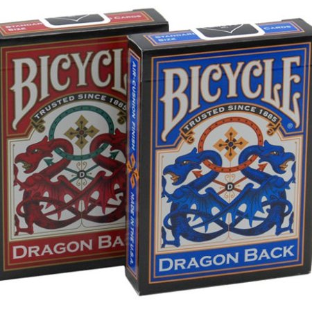 Deck Card Designs - TWO DECKS OF DRAGON BACK DESIGN BICYCLE PLAYING CARDS RED AND BLUE