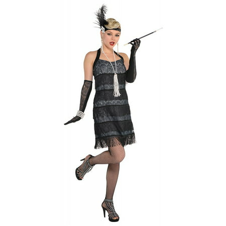 Batwoman Costume For Adults (Lace Flapper Adult Costume -)