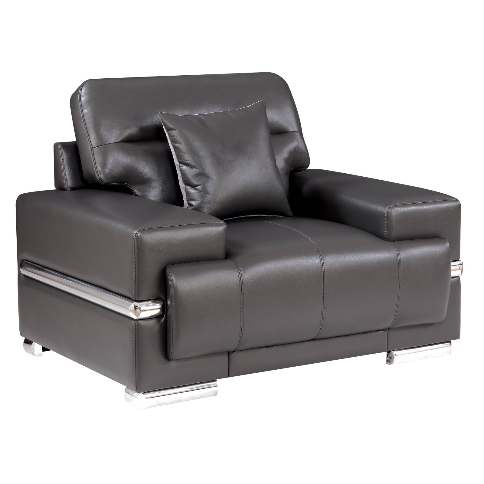 Furniture of America Preslly Contemporary Style Leatherette Arm Chair