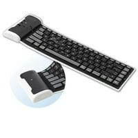 Slim Mini Flexible Folding Roll-Up Wireless Keyboard Compatible With Amazon Kindle Fire HDX 8.9 7 HD 8.9 7 6, DX - ASUS Google Nexus 7 2 7 - Barnes & Noble NOOK HD+ HD Color - BLU Vivo 5 A2R