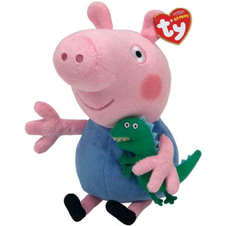 Peppa Pig George Beanie (Ty Soft Beanie) (Toy) - Peppa Pig George