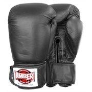 Professional Muay Thai Kickboxing Gloves in Black (12 oz.)