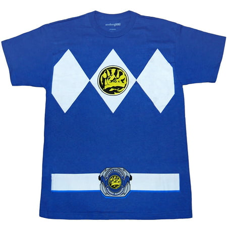 Mighty Morphin Power Rangers Blue Ranger Costume T-Shirt](Power Ranger Suits)