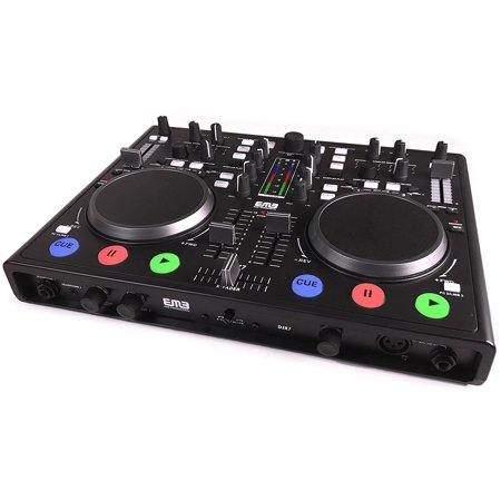 EMB - DJX7 - PRO DUAL MP3 Mixer DJ Scratch Midi Controller + Virtual DJ