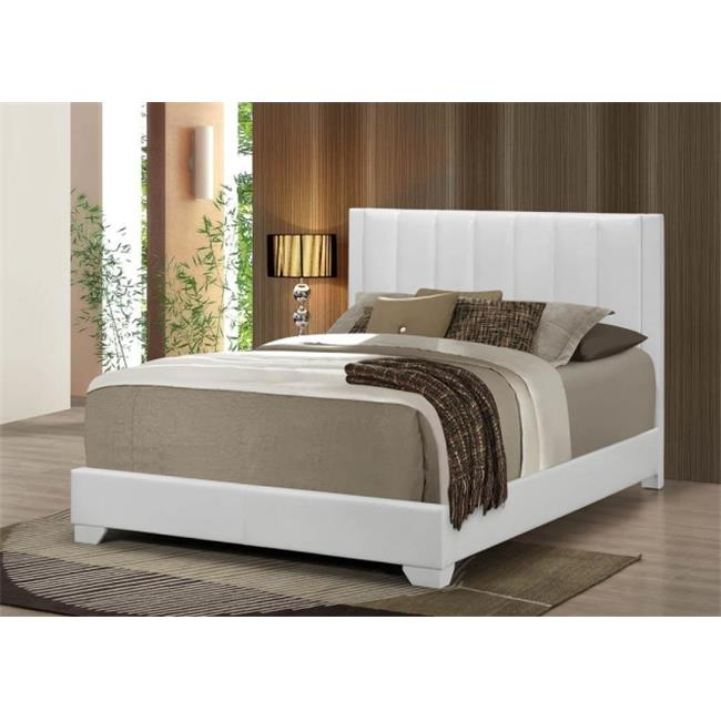 Myco Furniture MD3331K White Moderno King Size Bed