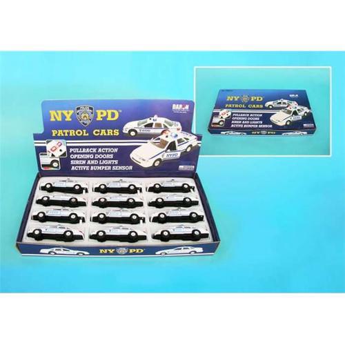 Daron TM863 NYPD Pullback Police Cars - 12 Piece Display