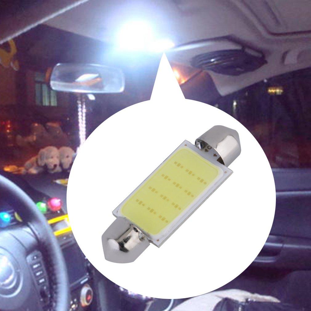 2pcs White 42MM Festoon COB 12 LED Map/Dome Interior Light Bulbs~~