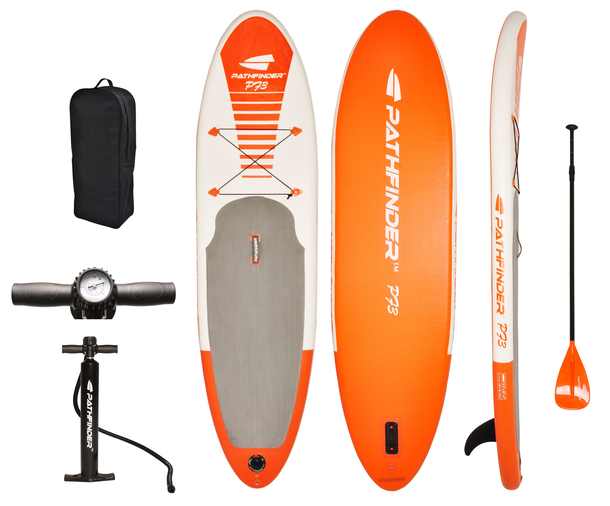 Stand Up Paddle Boards >> Pathfinder Vilano Inflatable Sup Stand Up Paddle Board Fin Pump