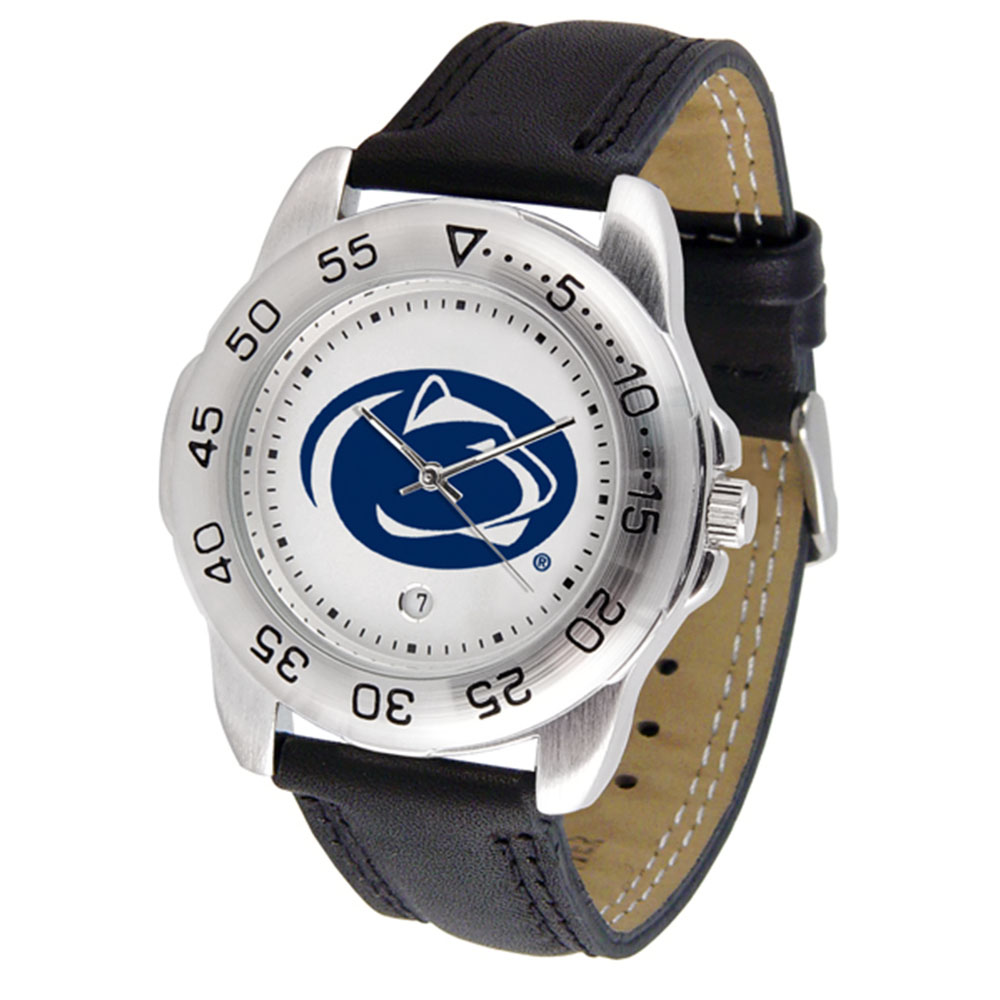 "Penn State Nittany Lions NCAA ""Sport"" Mens Watch (Leather Band)"