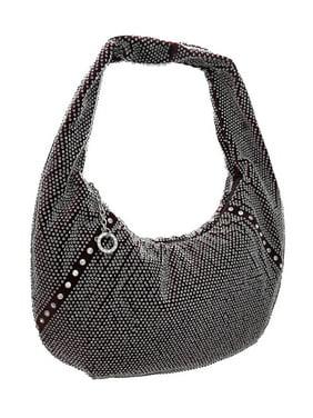 2f01faed65 Product Image Rhinestone Accented Beaded Velour Hobo Bag