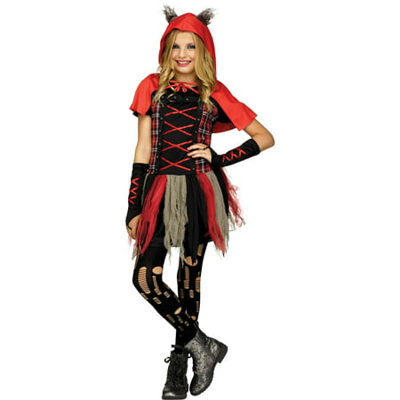 Fun World Edgy Red Hood Child Halloween Costume - Fun Family Themed Halloween Costumes
