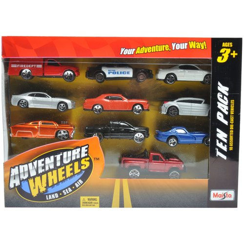 Maisto Adventure Wheels, 9-Pack