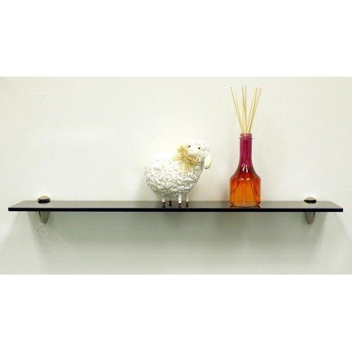 Spancraft Glass Grey Dove Floating Glass 27.5'' x 0.31'' Bathroom Shelf
