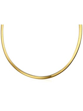 de3c01aa9 Free shipping. Free pickup. Product Image Jewelers 17.5 inch 2-Tone  Sterling Silver & 10K Gold 6MM Reversible Omega Chain Necklace. Pori